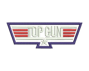 Top Gun Embroidery Design #1