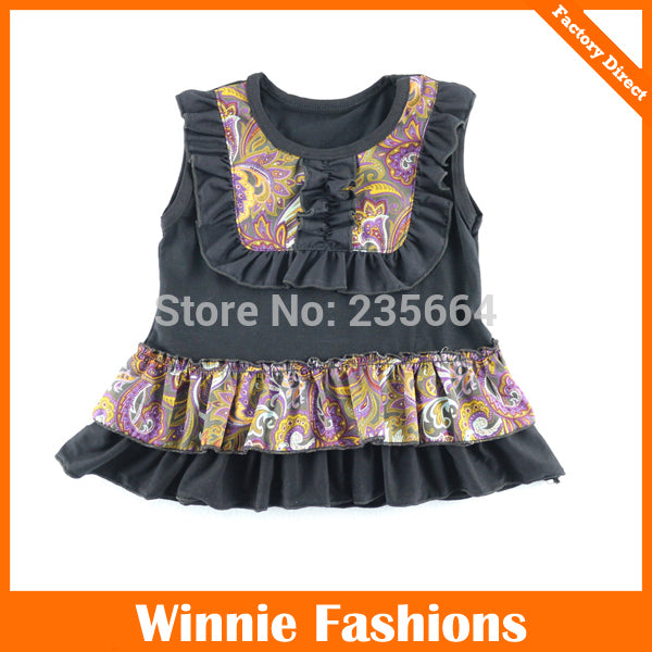 90567083cd26 2016 Rushed Chaleco Girls Tank Tops Vest Cotton Floral Cute Baby ...