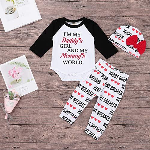 39767ba2 ... Valentine's Day Infant Baby Boy Girl Outfits Letter Print Top Pants Hat  3Pcs Clothes Set - Valentine's Day Infant Baby Boy Girl Outfits Letter  Print Top ...