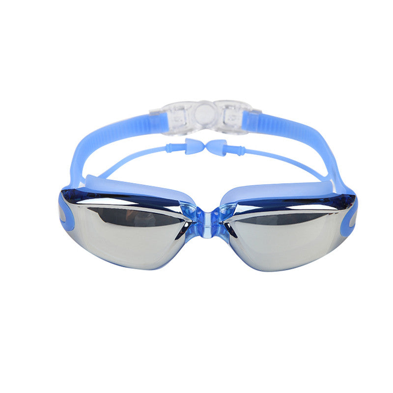 Anti Fog UV Surfing Swimming Goggles with Soft Earplugs UV and anti fog  protected