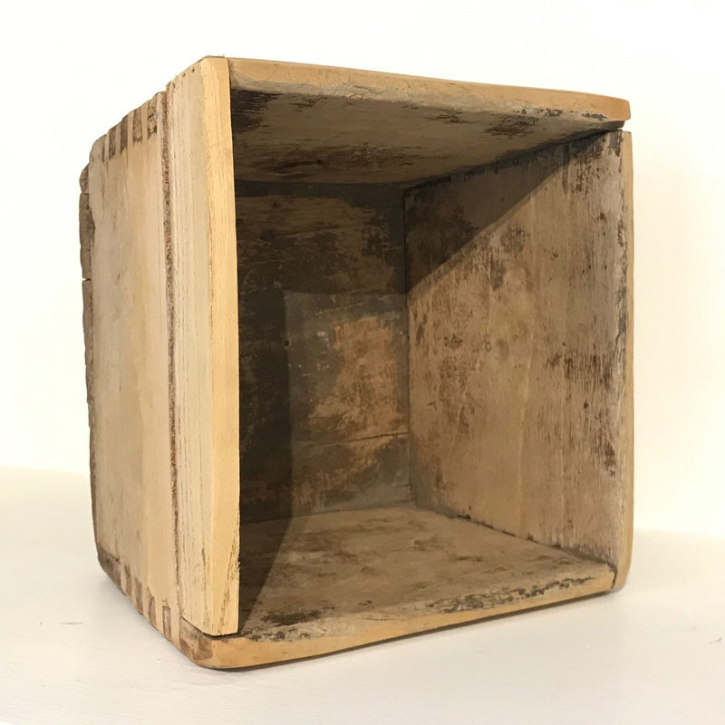 Antique Natural Rice Measuring Box