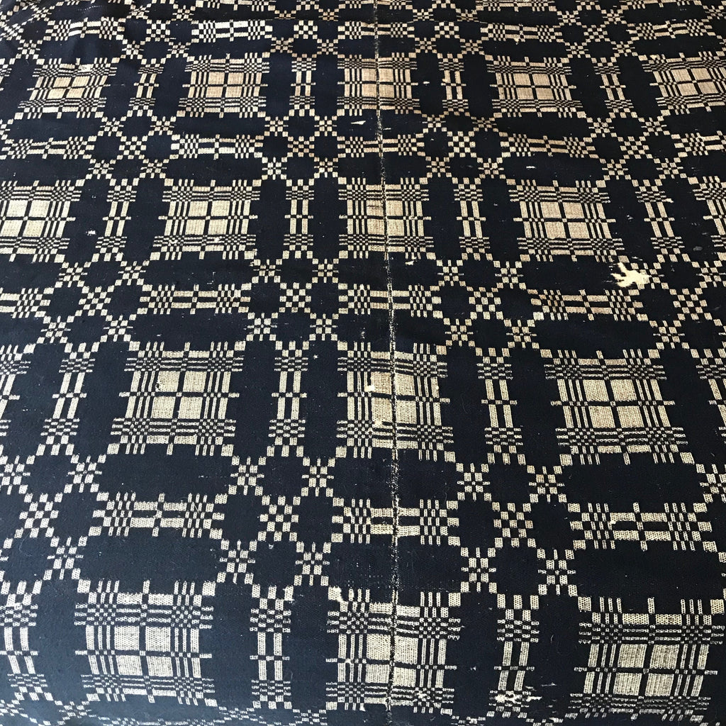 Antique Wool Coverlet Blue