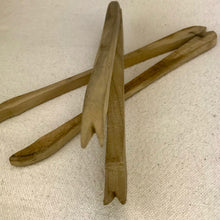 Wooden French Olive/Toast Tongs - Pair