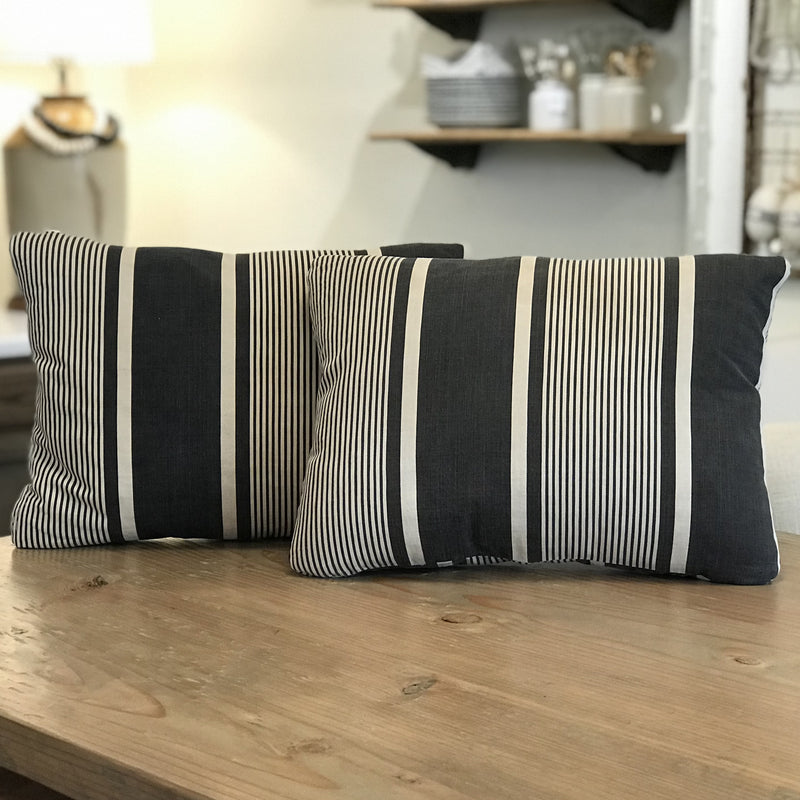 Vintage Cotton Ticking Pillow