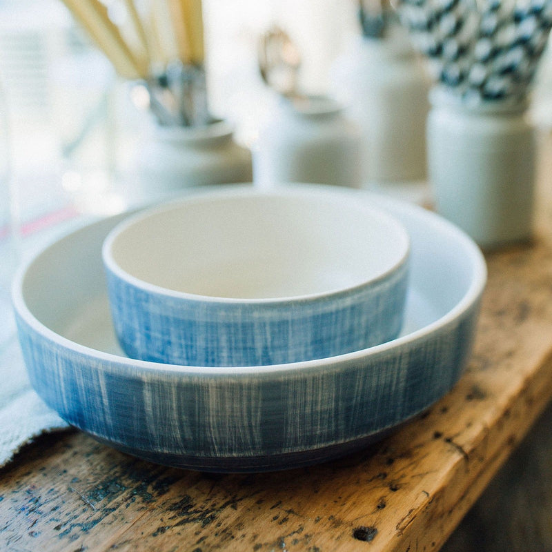 Ceramic Serving Bowl - blue
