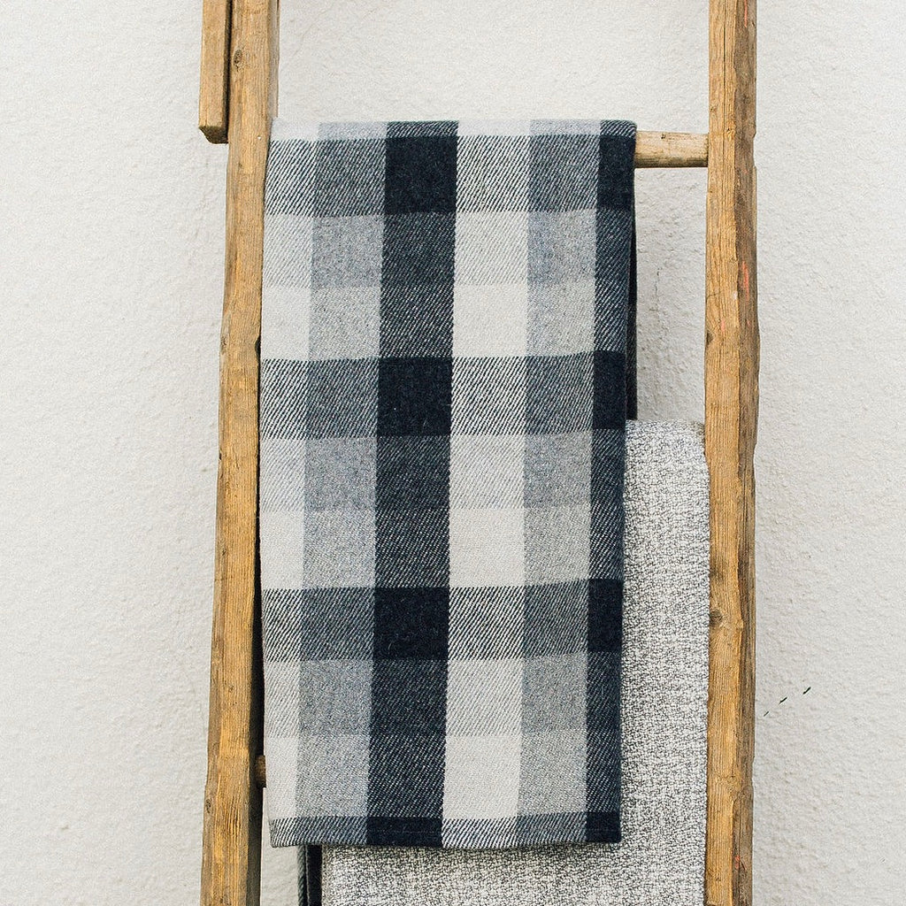 Gray Buffalo Check Throw 1
