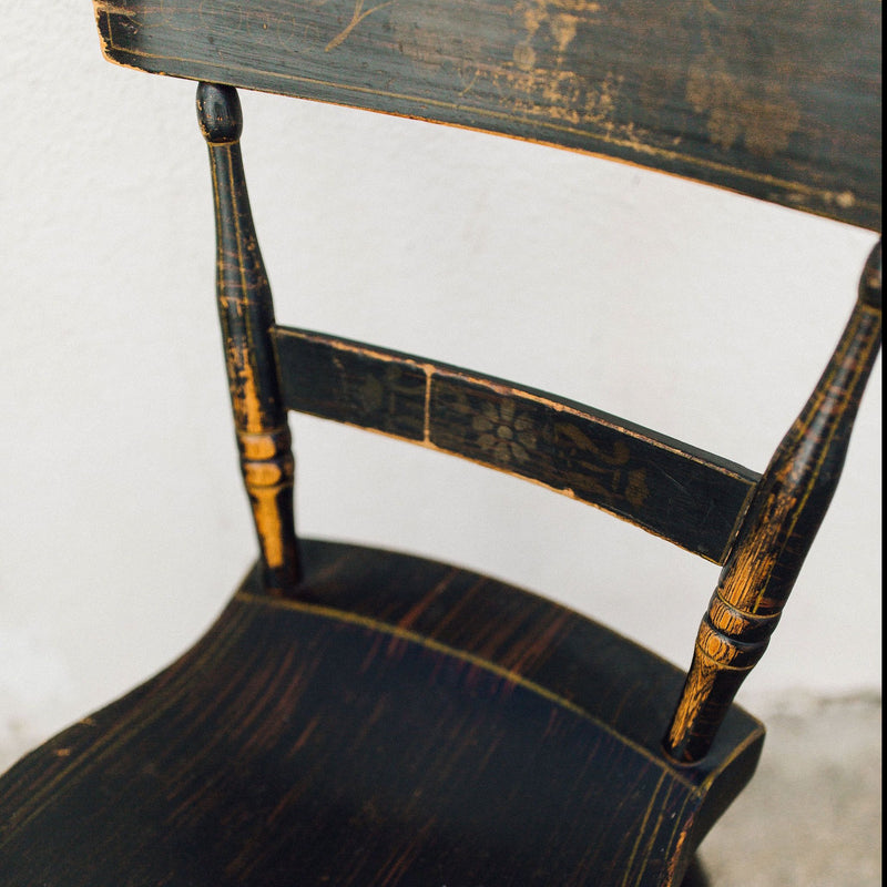 Antique Toleware Chair