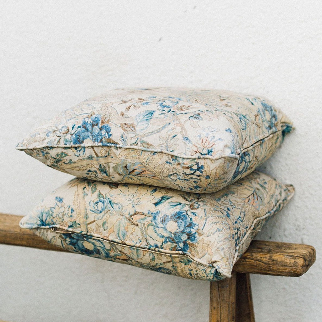 Linen Floral Pillow - Custom