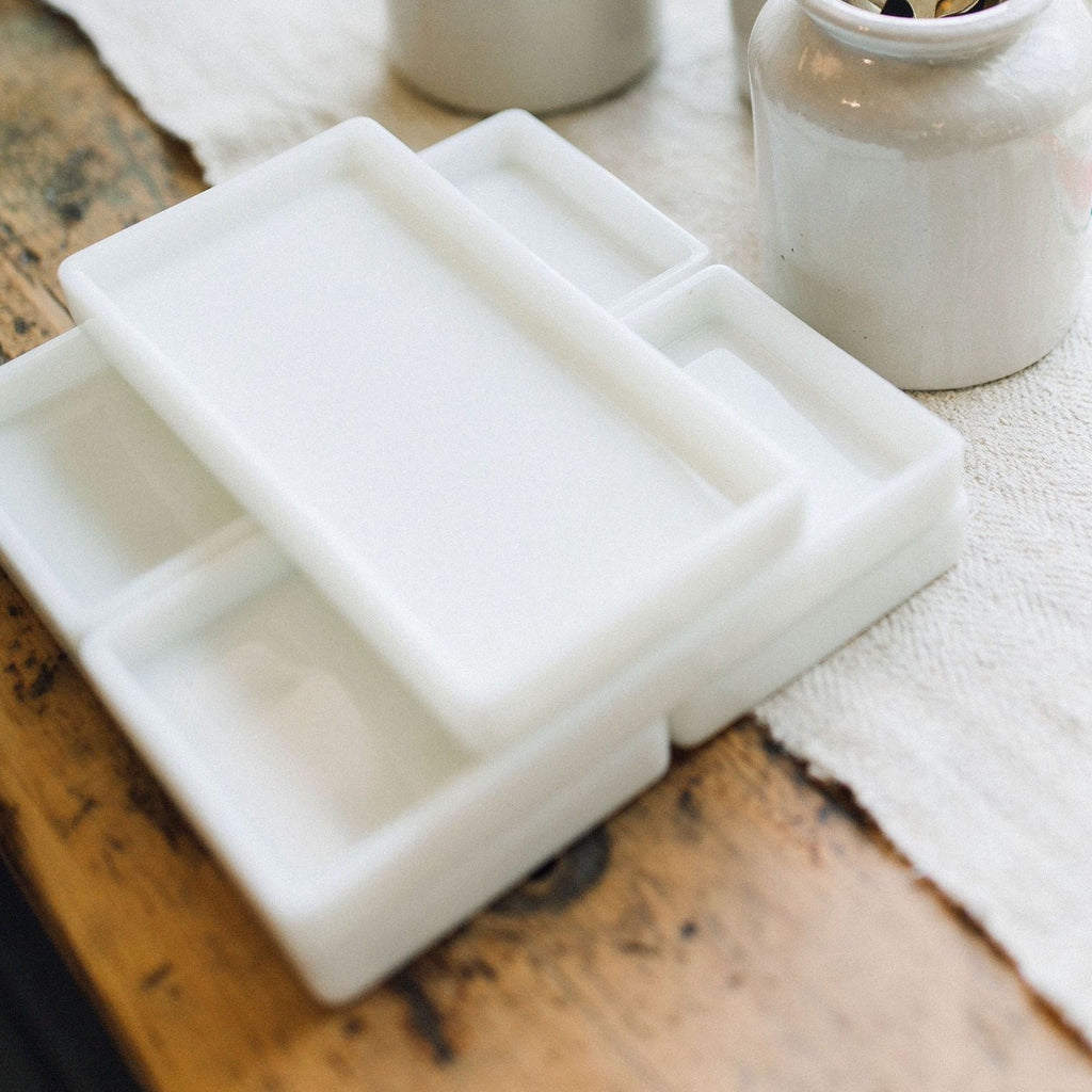 Antique Milk Glass Tray