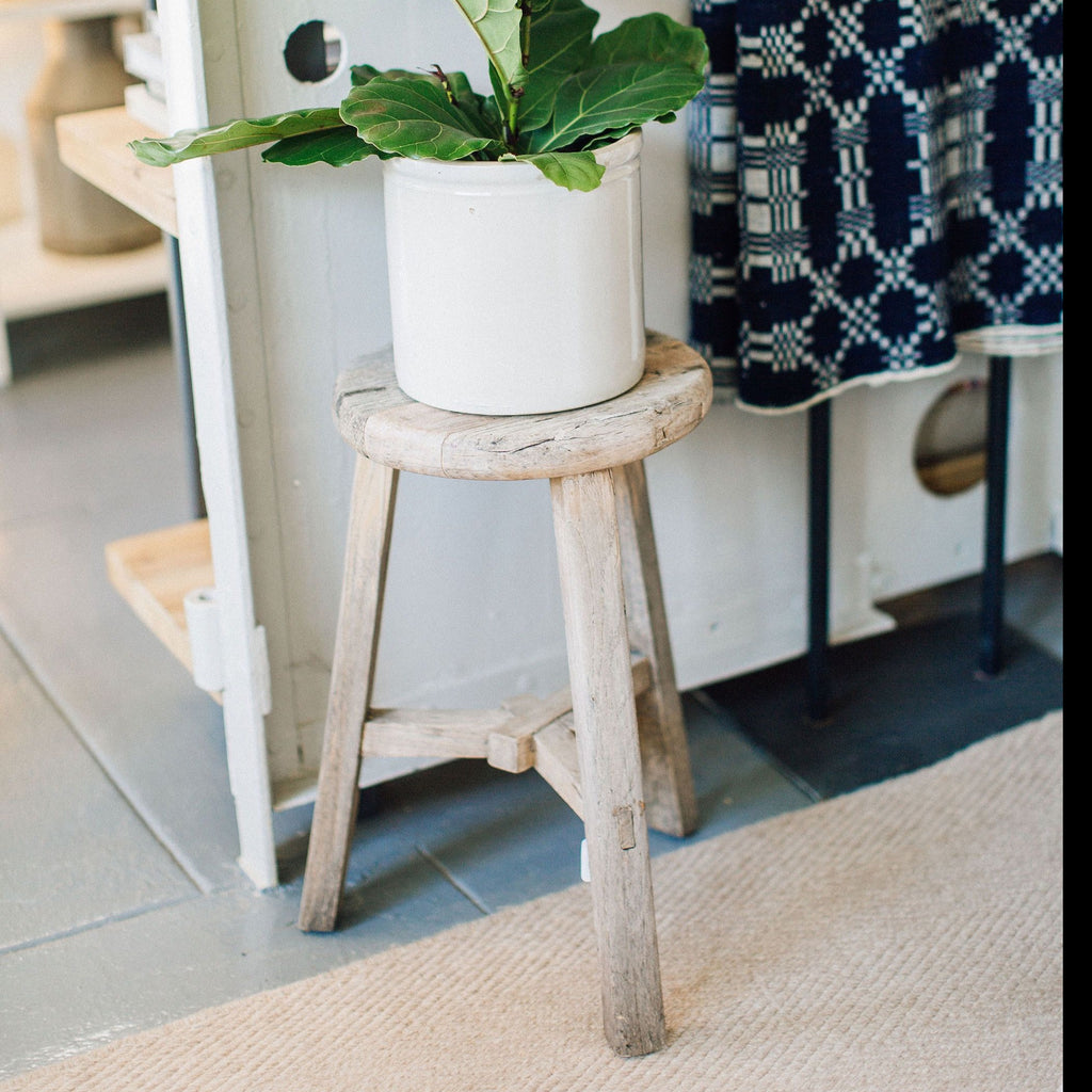 Vintage Wooden Counter Stool