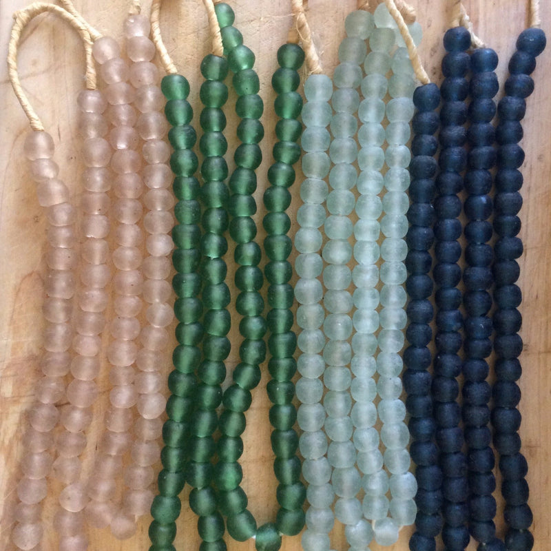 Hand made recycled beads by master artisans in many colors.