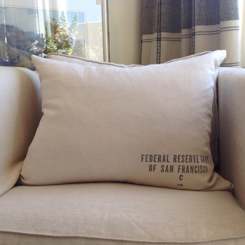 Vintage SF Money Bag Pillow - Custom