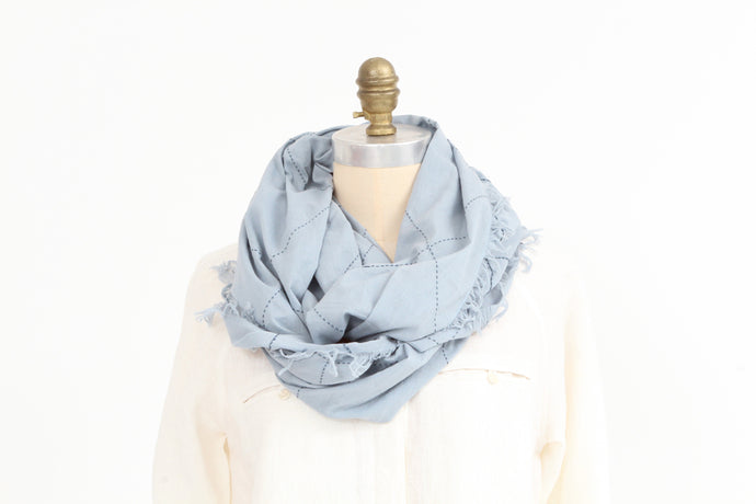 Scarf -  Blue - Cotton - Snood