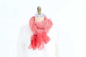 Scarf -  Red - Cotton Silk
