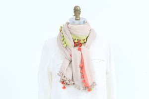 Scarf -  Cotton Tassel