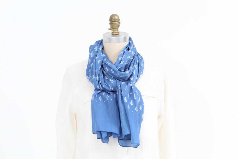 Scarf -  Blue - Cotton