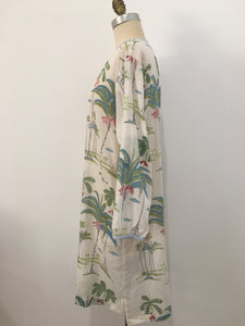 HANNAH Dress Palmtree Print - 100% cotton - One Size