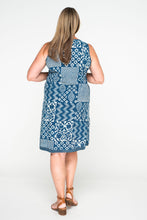 Annika Dress - Indigo Patchwork