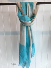 Scarf - Cotton Linen - dip edge