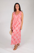 Mila Maxi Dress - Moroccan Tile Print - Pink