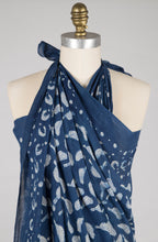 New - Sarong - Indigo Birdie - 100% Cotton Voile