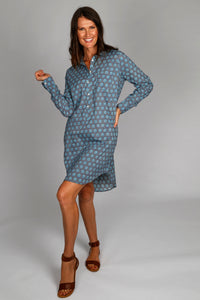 Sarah Shirt Dress - Grey