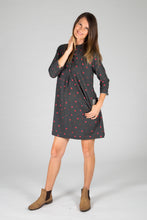 Radha Dress - Charcoal Dot