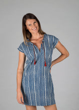 Harsha Dress - Indigo Stripe