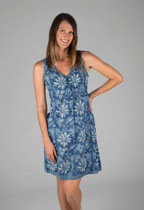 Annika Dress Indigo Floral