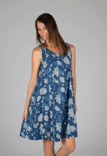 Tulsi Dress - Indigo Floral/Pink Sunburst