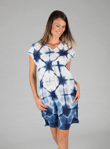 Frankie Dress - Shibori Indigo