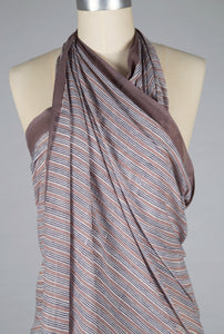 Sarong - Beige Stripe - 100% Cotton Voile