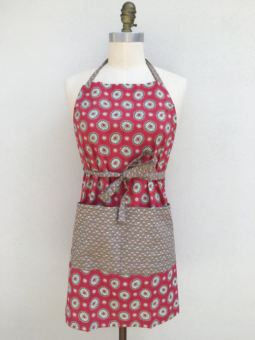 New - Perfect Apron - Red Marigold