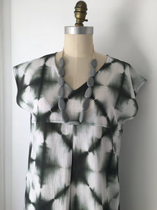 Frankie Dress - Shibori Liquorice