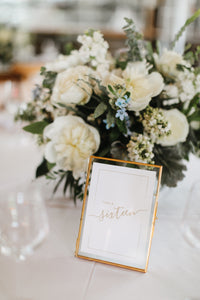 Table Numbers w/ Frame RENTALS ONLY