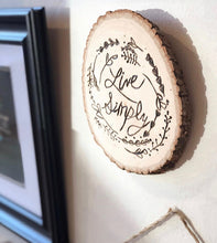 Load image into Gallery viewer, Quote Wood Burning Decor