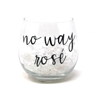 No Way Rose Stemless Wine Glass