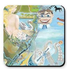 Mermaid Map Jersey Shore Coasters