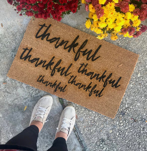 """Thankful"" Doormat"