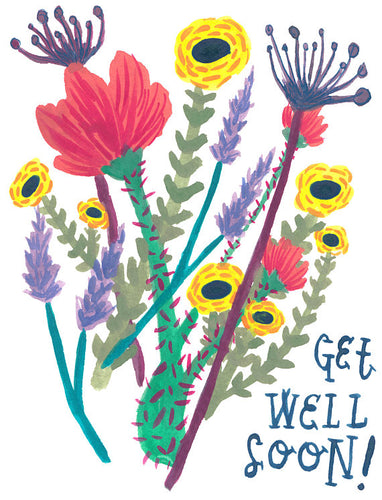 Get Well Blank Card