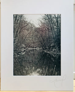 Black and White Stream Print
