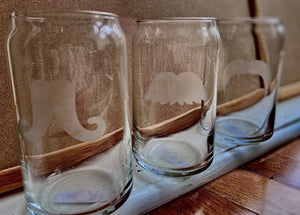 Mustache Beer Glasses