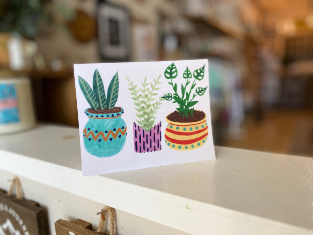 Plants Greeting Card