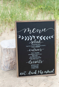 Large Chalkboard Menu