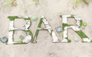 Birch and Moss Bar Sign