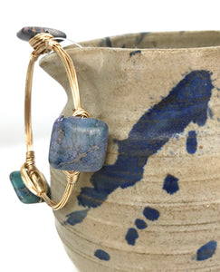 Blue Sea Sediment Bangle