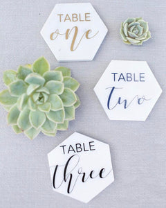 Tile Table Numbers