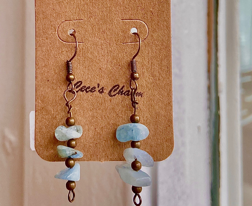 Cloudy Hanging Tier Earrings