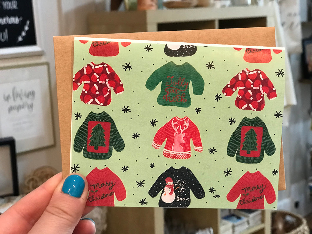 Christmas Sweater Blank Card