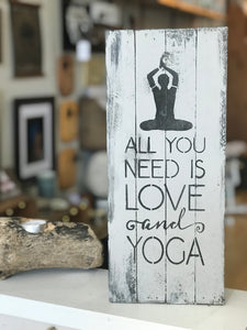 All You Need is Love and Yoga Sign